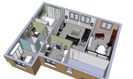 Plans et 3D architecte d'intérieur