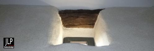 Enduit en chaux et chanvre pour la rénovation d'un mas dans le gard