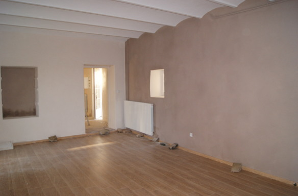 Futur salon en cours de rénovation