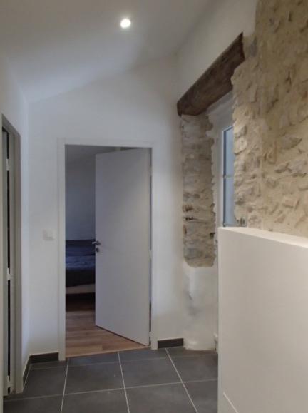 Rénovation maison pierre, soubassement en doublage